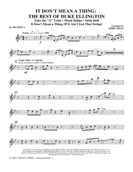 It Don't Mean A Thing: The Best Of Duke Ellington (Medley) - Bb Trumpet 1