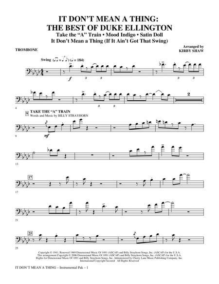 It Don't Mean A Thing: The Best Of Duke Ellington (Medley) - Trombone