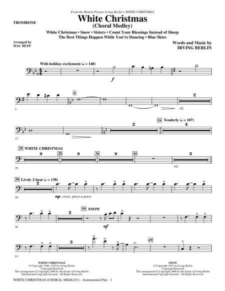 White Christmas (Choral Medley) - Trombone