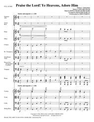 Praise The Lord! Ye Heavens, Adore Him - Full Score