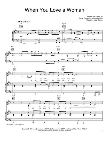 Download When You Love A Woman Sheet Music By Neal Schon Sheet