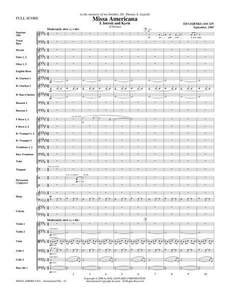 Missa Americana - Full Score
