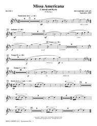 Missa Americana - Flute 1