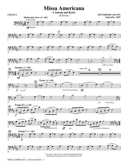 Missa Americana - Cello 1