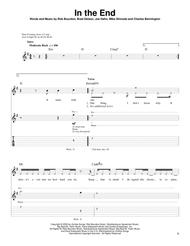 Download In The End Sheet Music By Linkin Park - Sheet Music