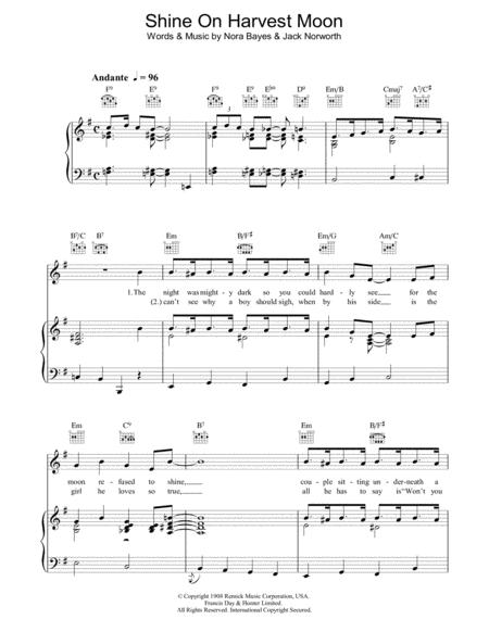 Download Shine On Harvest Moon Sheet Music By Nora Bayes-Norworth ...