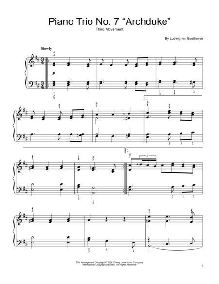 Piano Trio No. 7 in B-flat, Op. 97