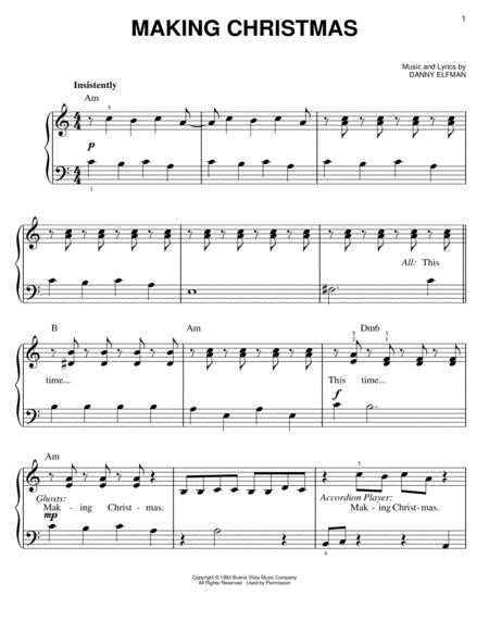 Nightmare Before Christmas Piano Sheet Music.Download Making Christmas From The Nightmare Before
