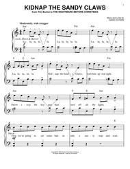 Nightmare Before Christmas Piano Sheet Music.Download Kidnap The Sandy Claws From The Nightmare Before