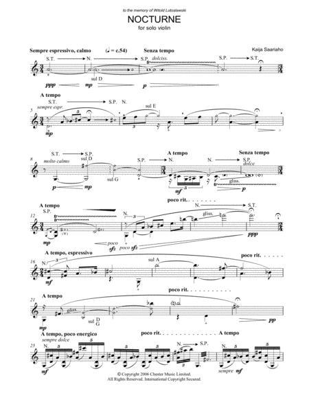 Nocturne (for Solo Violin)