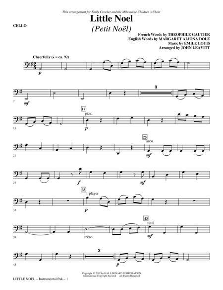 Little Noel (Petit Noel) - Cello