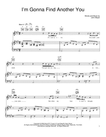 Download Im Gonna Find Another You Sheet Music By John Mayer