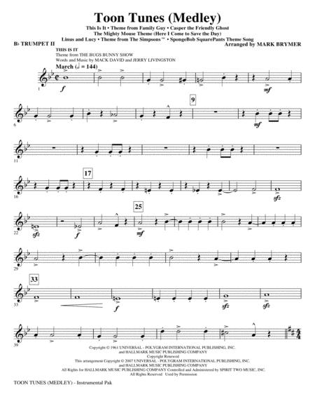 Toon Tunes - Bb Trumpet 2