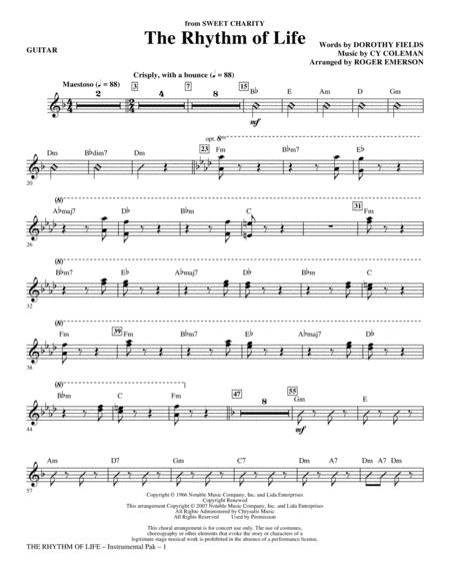 The Rhythm Of Life - Guitar