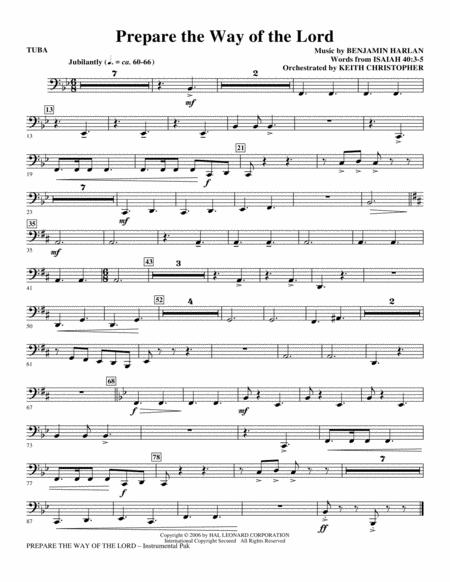 Prepare The Way Of The Lord - Tuba