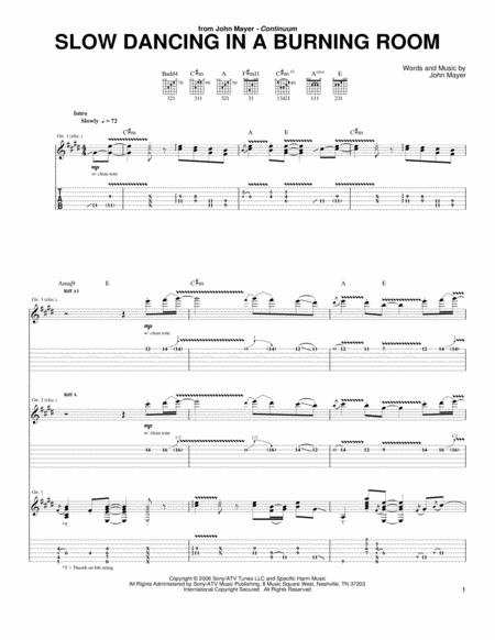 Download Slow Dancing In A Burning Room Sheet Music By