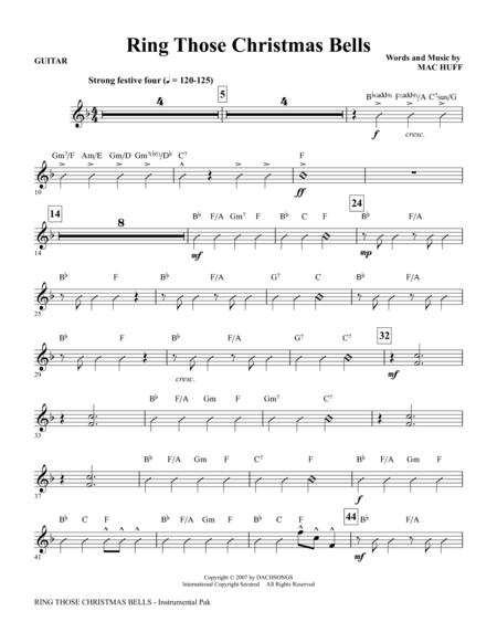 Download ring those christmas bells guitar sheet music