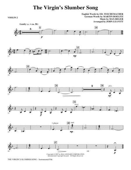 The Virgin's Slumber Song - Violin 2