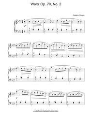 Waltz Op. 70, No. 2