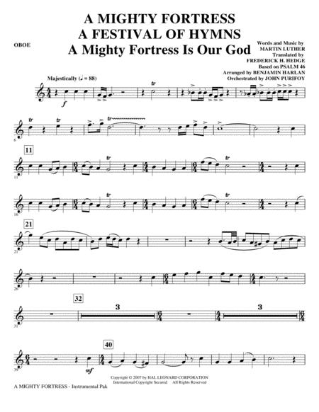 A Mighty Fortress - A Festival of Hymns - Oboe