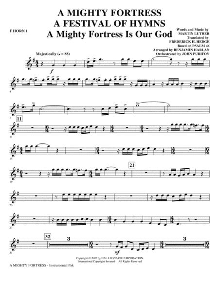 A Mighty Fortress - A Festival of Hymns - F Horn 1