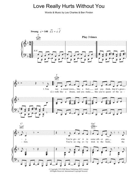 Download Love Really Hurts Without You Sheet Music Sheet Music Plus