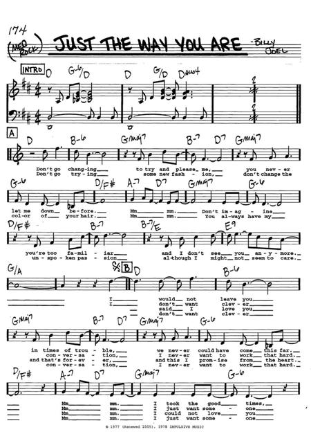 Download Just The Way You Are Sheet Music By Billy Joel Sheet