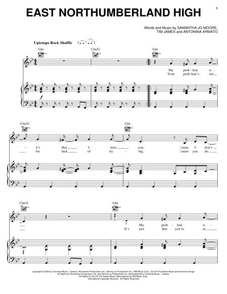 Download East Northumberland High Sheet Music By Miley Cyrus - Sheet ...