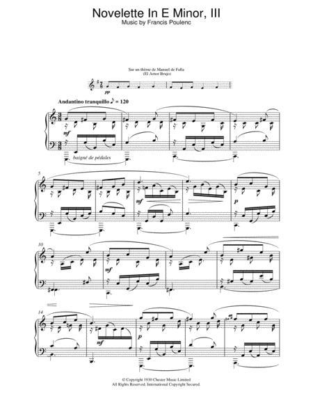 Novelette In E Minor, III