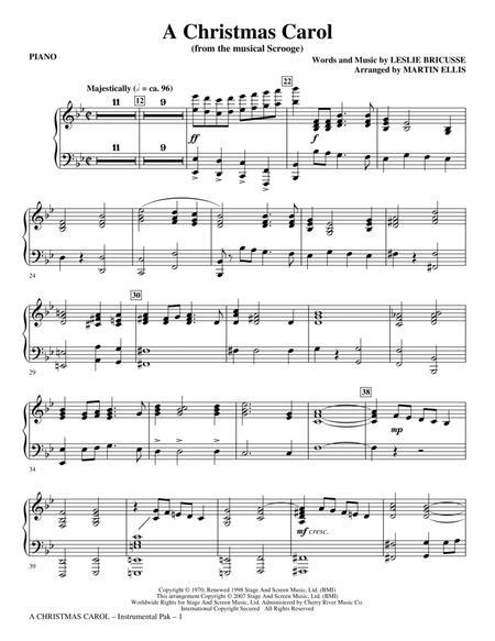 A Christmas Carol - Piano
