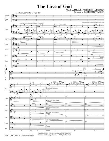 The Love Of God - Full Score