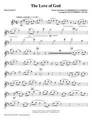 The Love Of God - Solo Violin