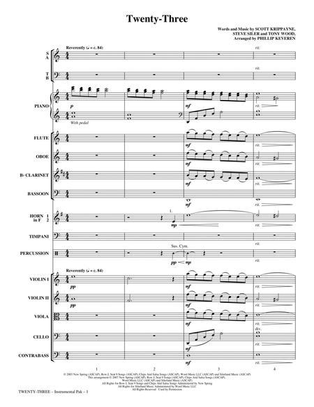 Twenty-Three - Full Score
