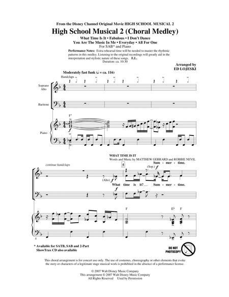 High School Musical 2 (Choral Medley)