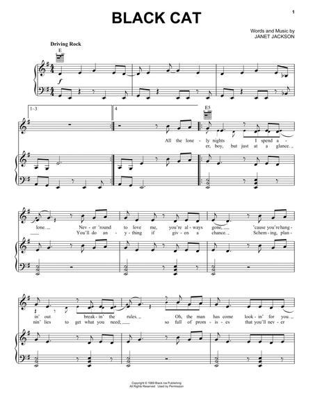 Download Black Cat Sheet Music By Janet Jackson Sheet Music Plus