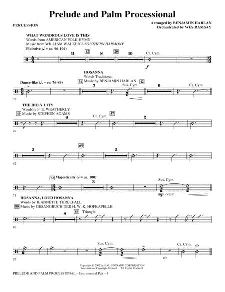 Prelude And Palm Processional - Percussion