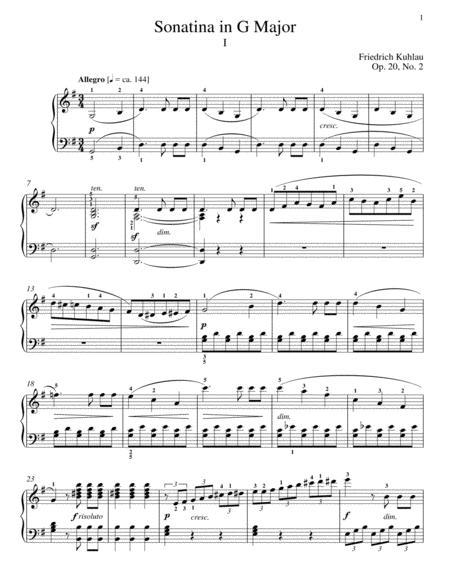 Sonatina In G Major, Op. 20, No. 2