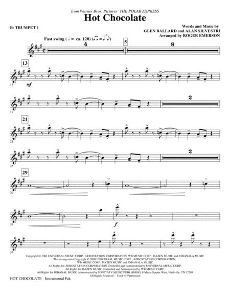 Hot Chocolate (from The Polar Express) - Bb Trumpet 1