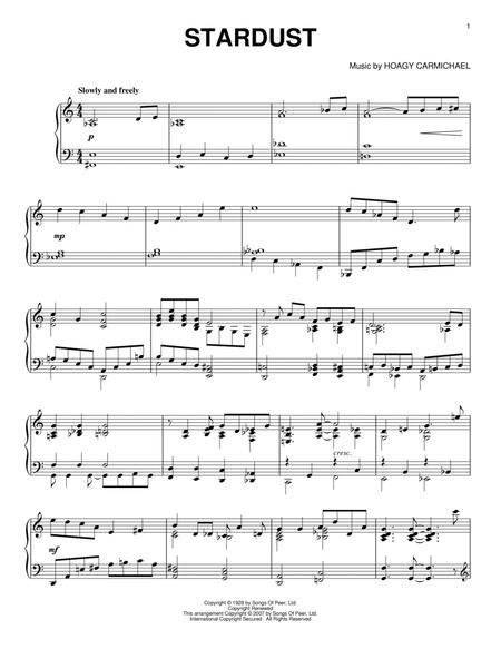 Download Stardust Sheet Music By Hoagy Carmichael Sheet Music Plus