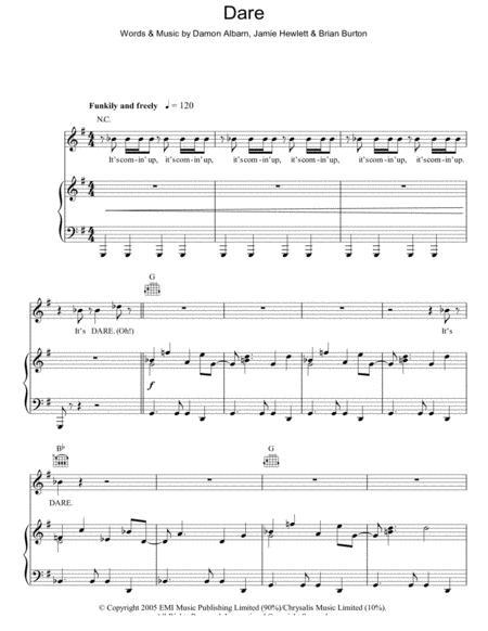 Download Dare Sheet Music Sheet Music Plus