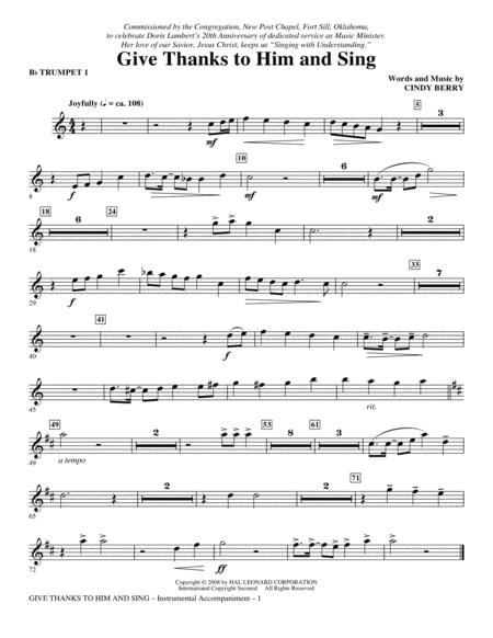Give Thanks To Him And Sing - Bb Trumpet 1