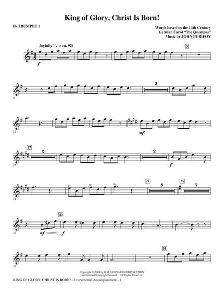 King Of Glory, Christ Is Born! - Bb Trumpet 1