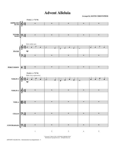 Advent Alleluia - Full Score