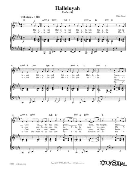 Halleluyah (Psalm 148)