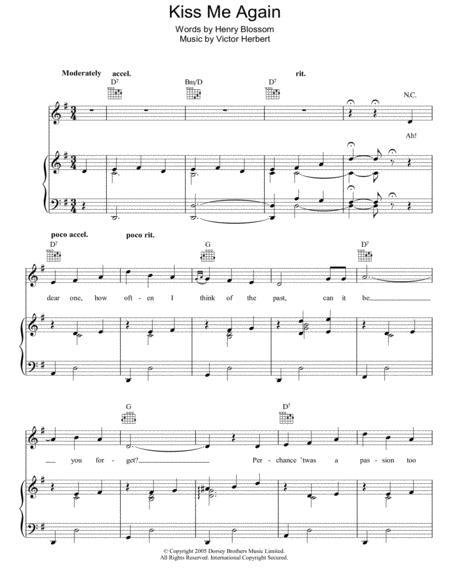 Download Kiss Me Again Sheet Music By Victor Herbert - Sheet Music Plus