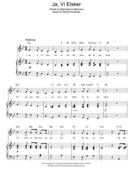 Ja, Vi Elsker (Norwegian National Anthem)