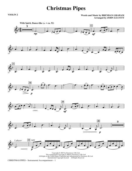 Christmas Pipes - Violin 2