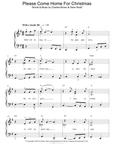 Please Come Home For Christmas Eagles.Download Please Come Home For Christmas Sheet Music Sheet