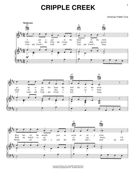 Preview Cripple Creek By American Fiddle Tune (HX.91615) - Sheet ...