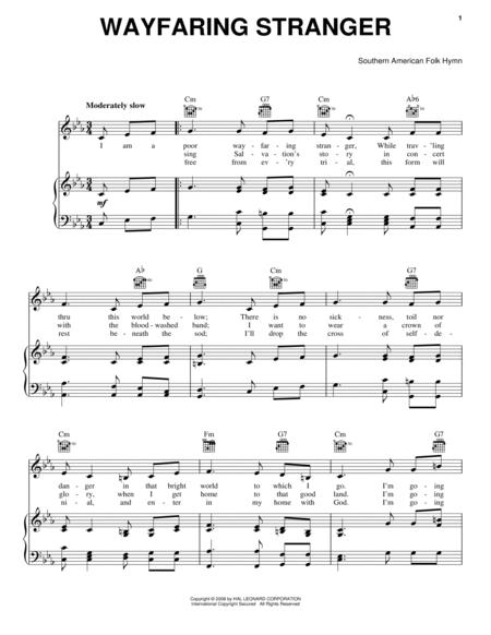 Download Wayfaring Stranger Sheet Music By Southern American Folk ...